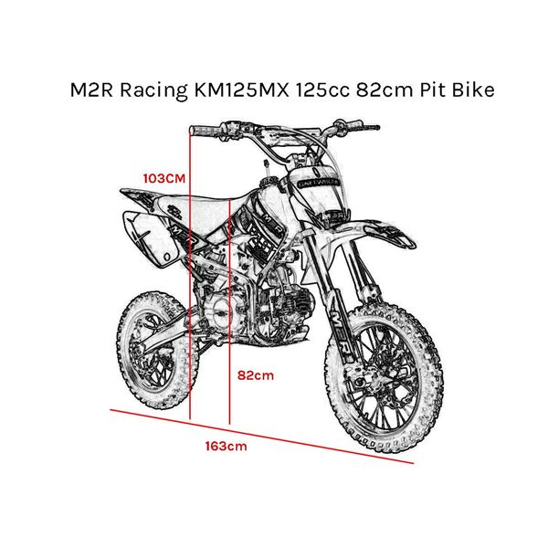 M2R Racing KMXR125 125cc 82cm Green Pit Bike