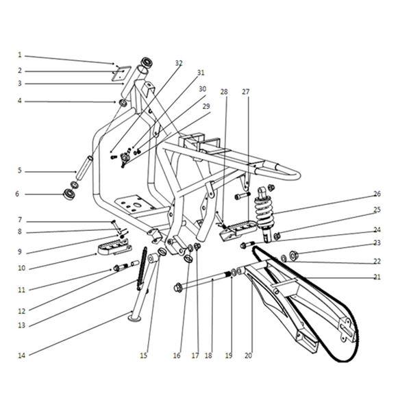 FunBikes Petrol MXR Dirt Bike Frame