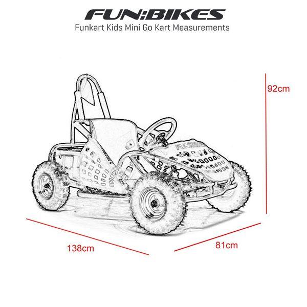 FunBikes Funkart 1000w Red Electric Kids Go Kart