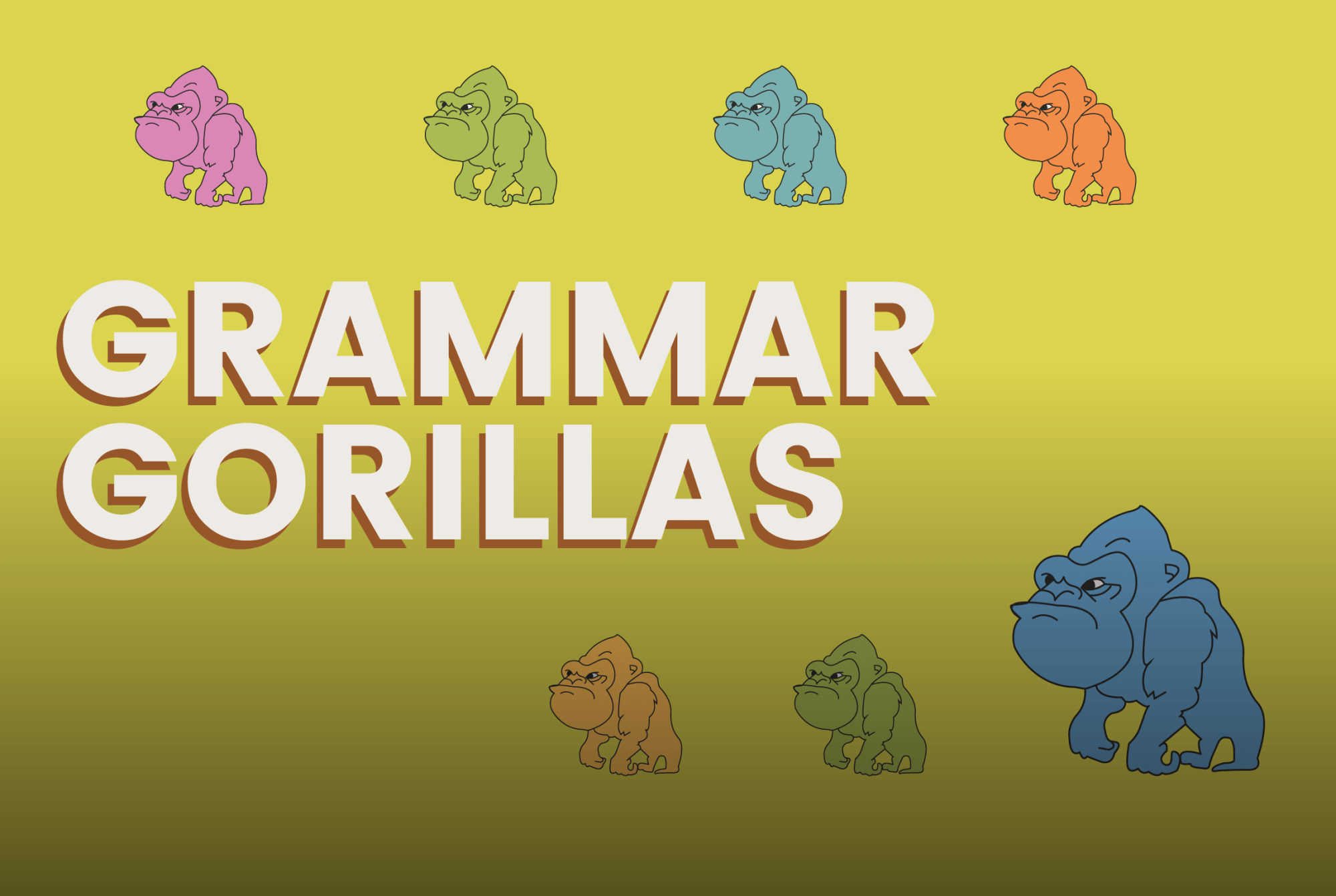 hight resolution of Grammar Gorillas - a game on Funbrain