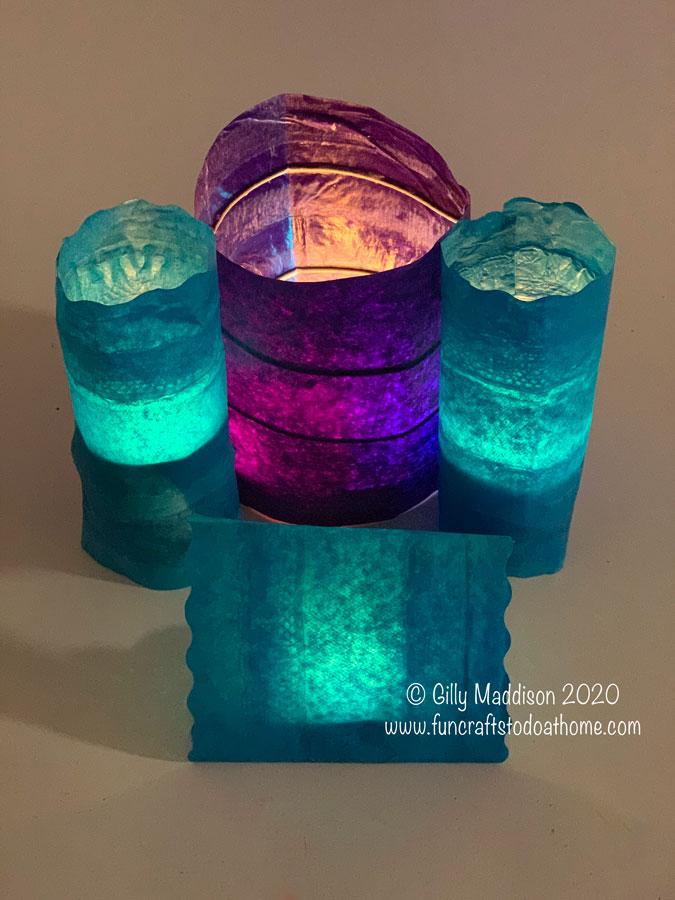 tissue paper light shades