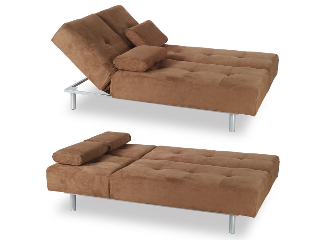 microfiber sofa bed rowe styles trio brown by at home usa