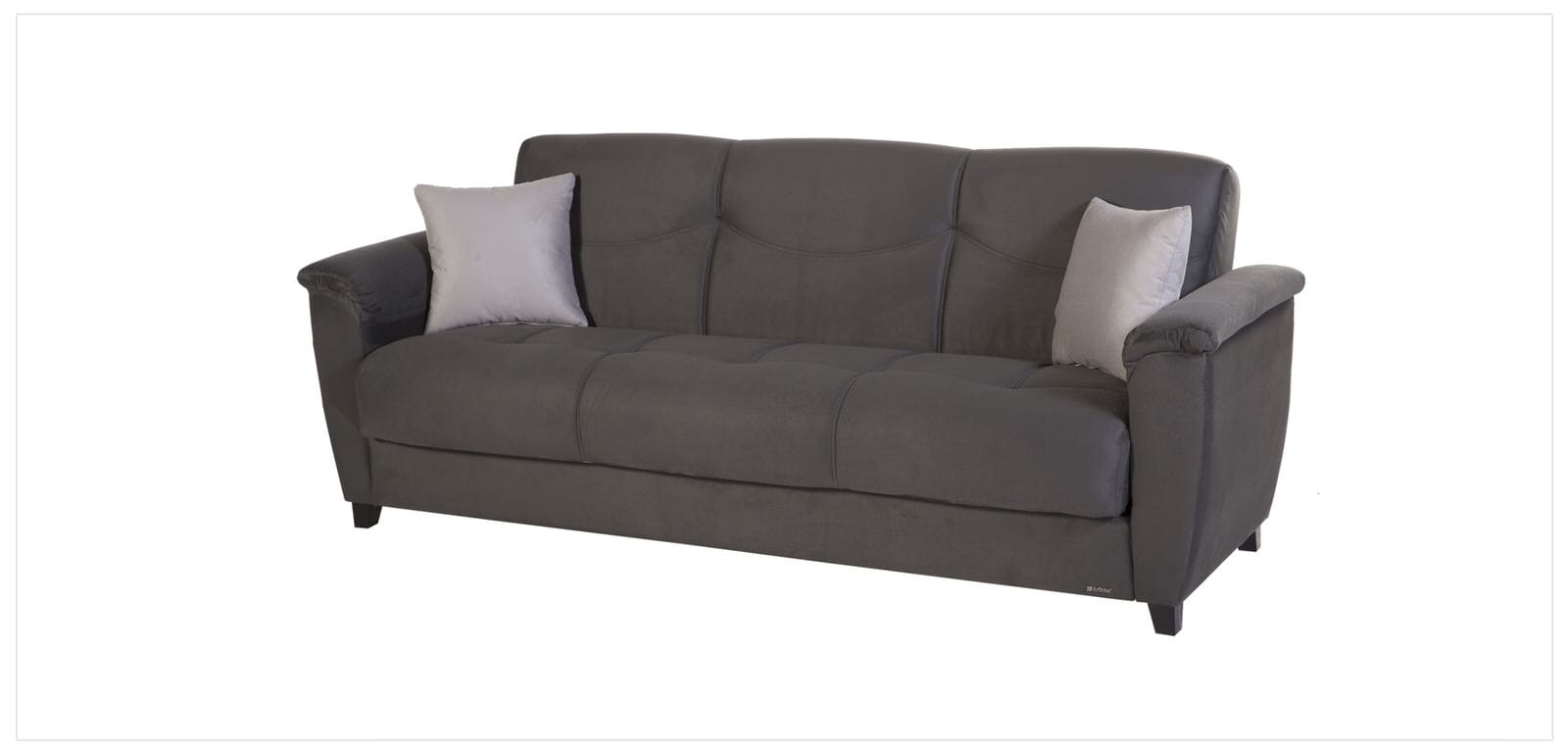 aspen convertible sectional storage sofa bed ikea green rainbow dark grey by istikbal