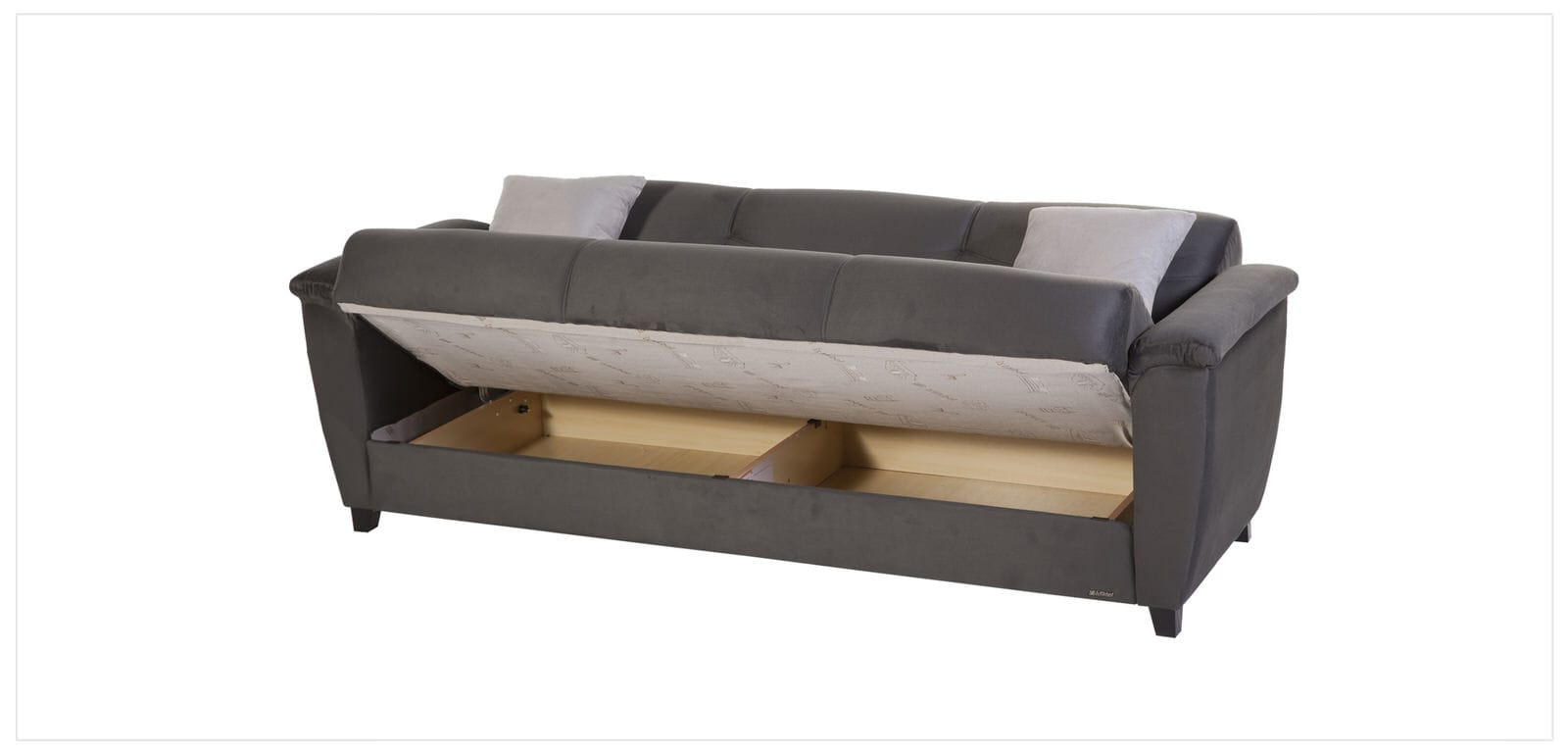 aspen convertible sectional storage sofa bed plastic covers target rainbow dark grey by istikbal