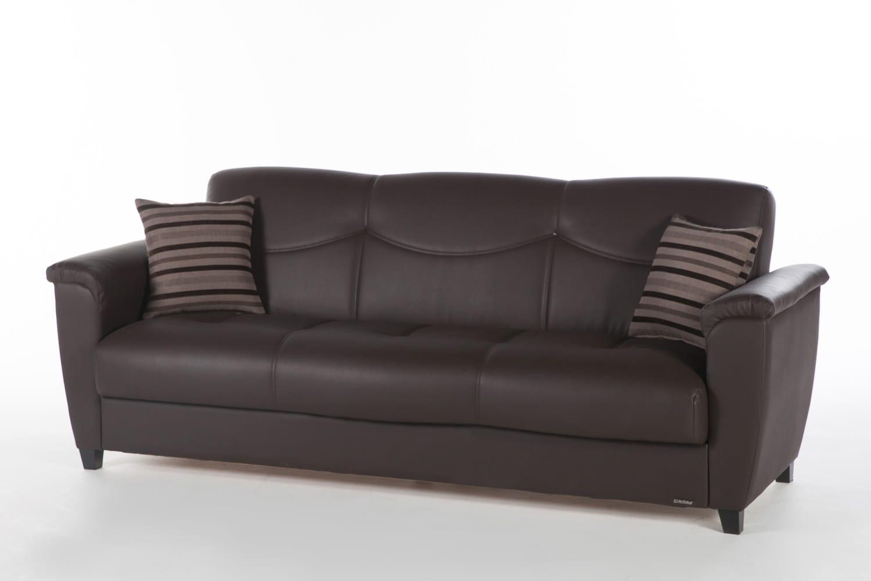 aspen convertible sectional storage sofa bed damask set santa glory dark brown by