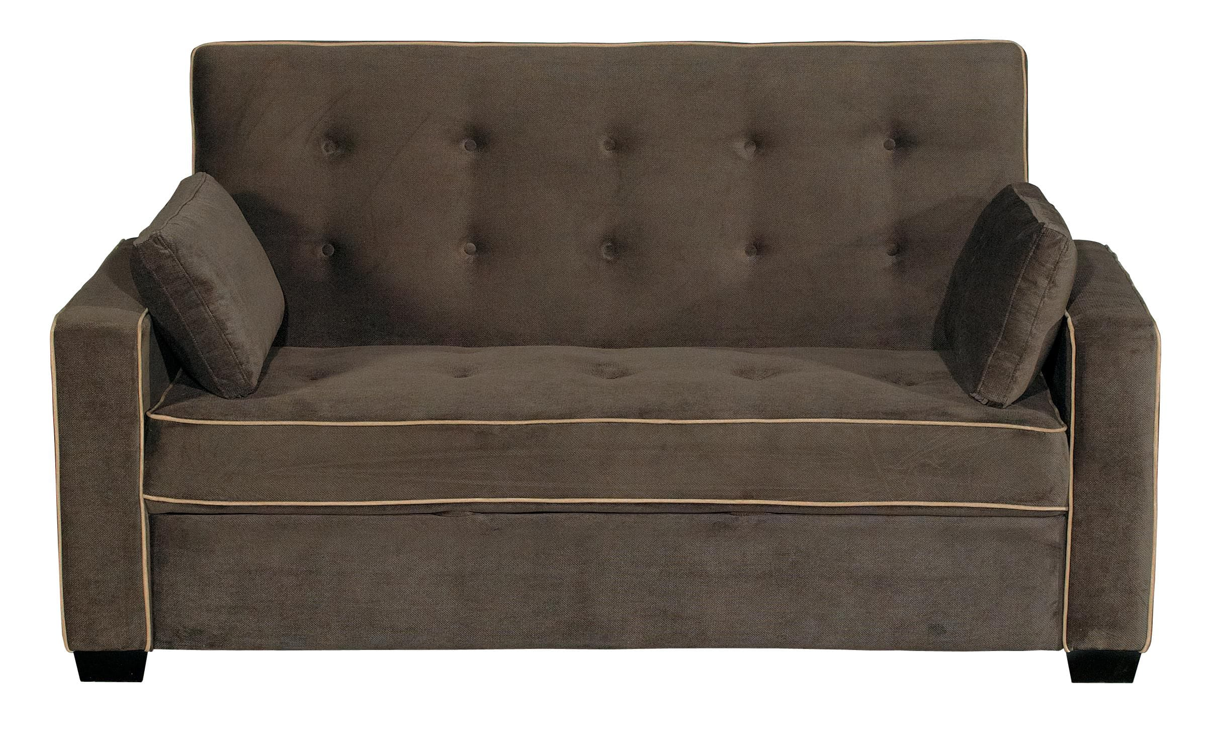 serta sofa sleeper full size armen living barrister review augustine loveseat java by lifestyle