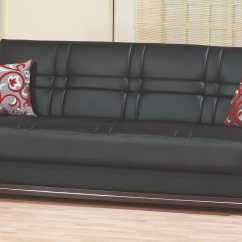 Black Leather Sleeper Sofa Set Red Sectional With Ottoman Bronx Bed By Empire Furniture Usa