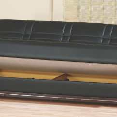 Black Leather Sleeper Sofa Set How To Decorate Table Bronx Bed By Empire Furniture Usa