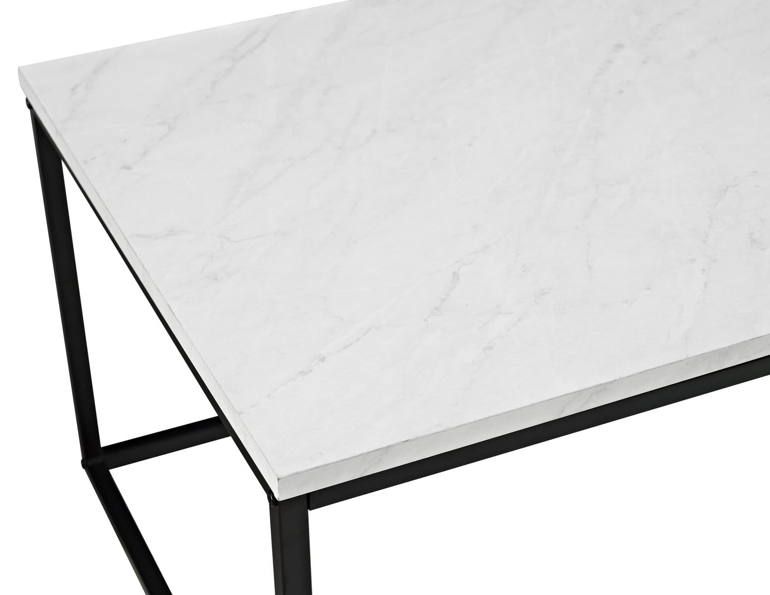 42 inch mixed material coffee table marble by walker edison