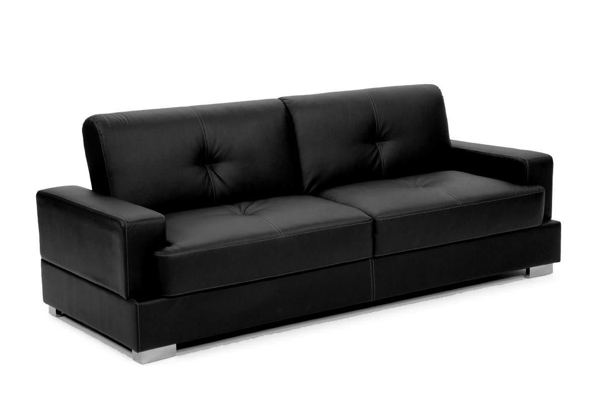 serta bonded leather convertible sofa tufted back chaise lifestyle solutions bed matrix
