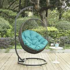Outdoor Swing Chair With Stand Lift Chairs Covered By Medicaid Hide Patio Gray Turquoise Modern Living
