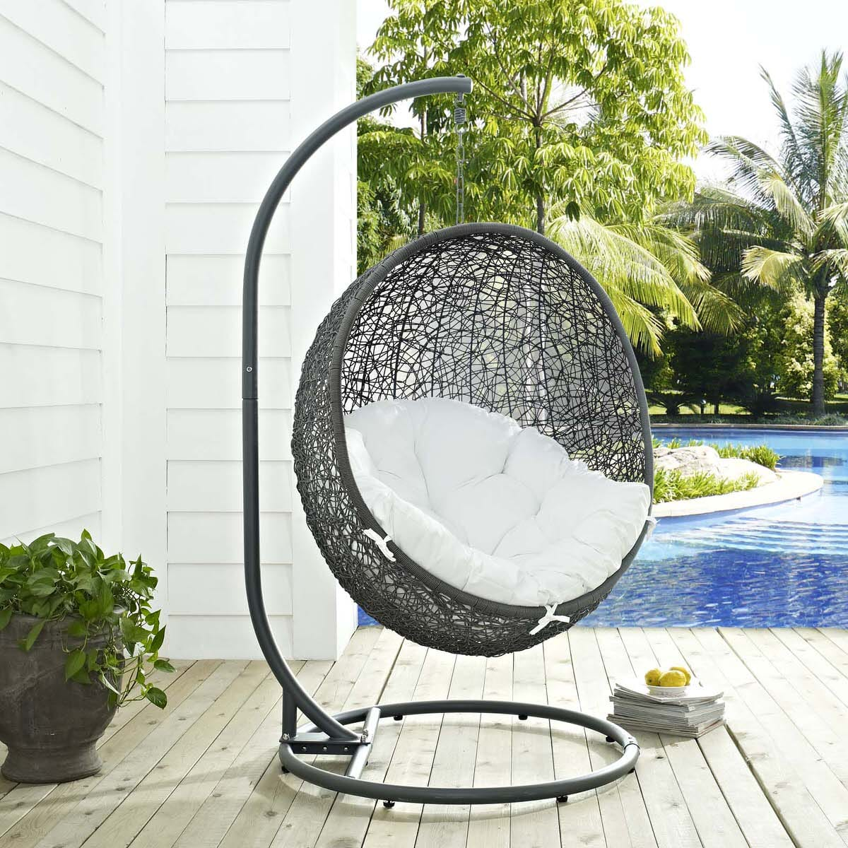 swing chair with stand outdoor swivel hardware parts hide patio gray white by modern living