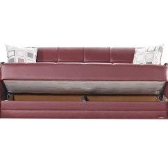 Leatherette Sofa Durability Grey Throw Cotton Etro Prestige Burgundy Bed By Mobista