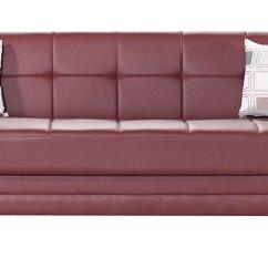 Leatherette Sofa Durability Paper Etro Prestige Burgundy Bed By Mobista