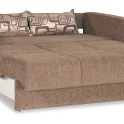 Folding Chair Beds Canada Unusual Rail Ideas Ferra Fashion Brown Convertible Loveseat By Casamode