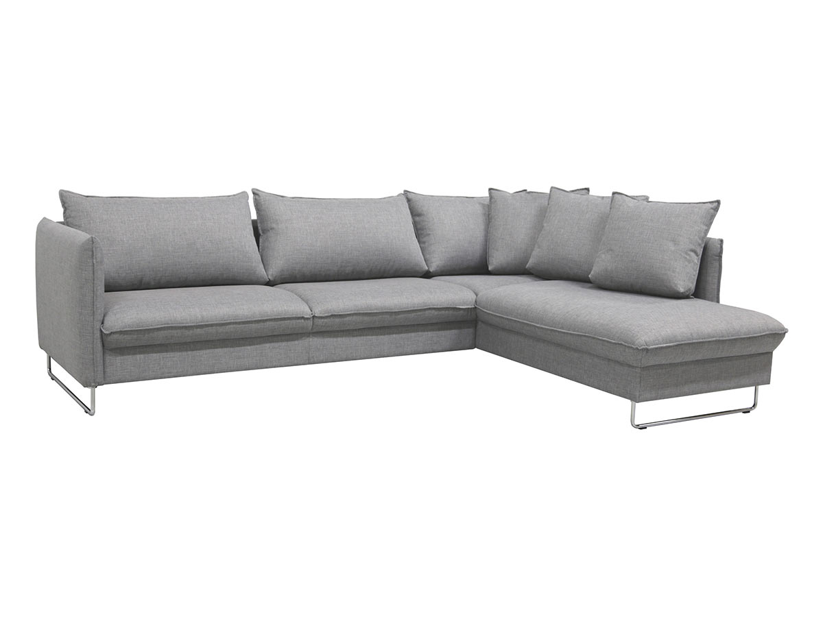 sofa w chaise country plaid slipcovers flipper rhf by luonto furniture