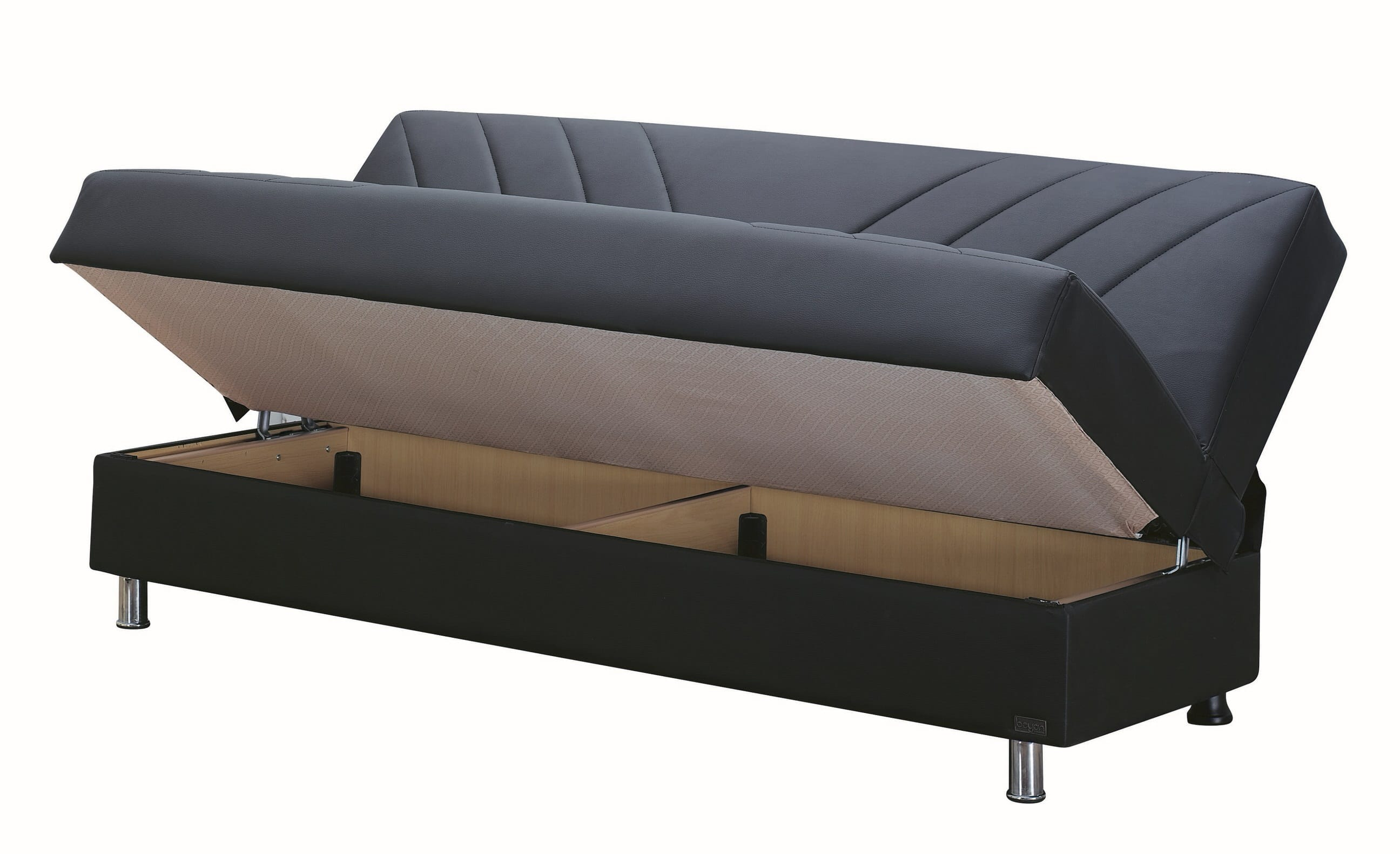 empire furniture sofa kelly wearstler halifax black leather bed by usa