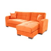 orange sectional sofa | Roselawnlutheran