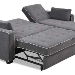 Small Sectional Storage Chaise Sofa Pull Out Bed Sleeper Crate And Barrel Lounge 93 Review Augustine King Size Moon Grey By Serta / Lifestyle