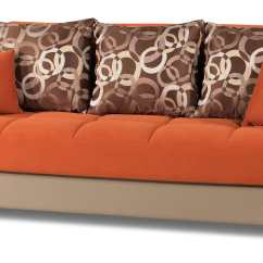 Sofa Bed Color Orange Dylan Convertible And Futon Mobimax By Casamode