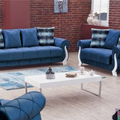 Blue Fabric Recliner Sofa Platform Plans Montreal Bed By Empire Furniture Usa