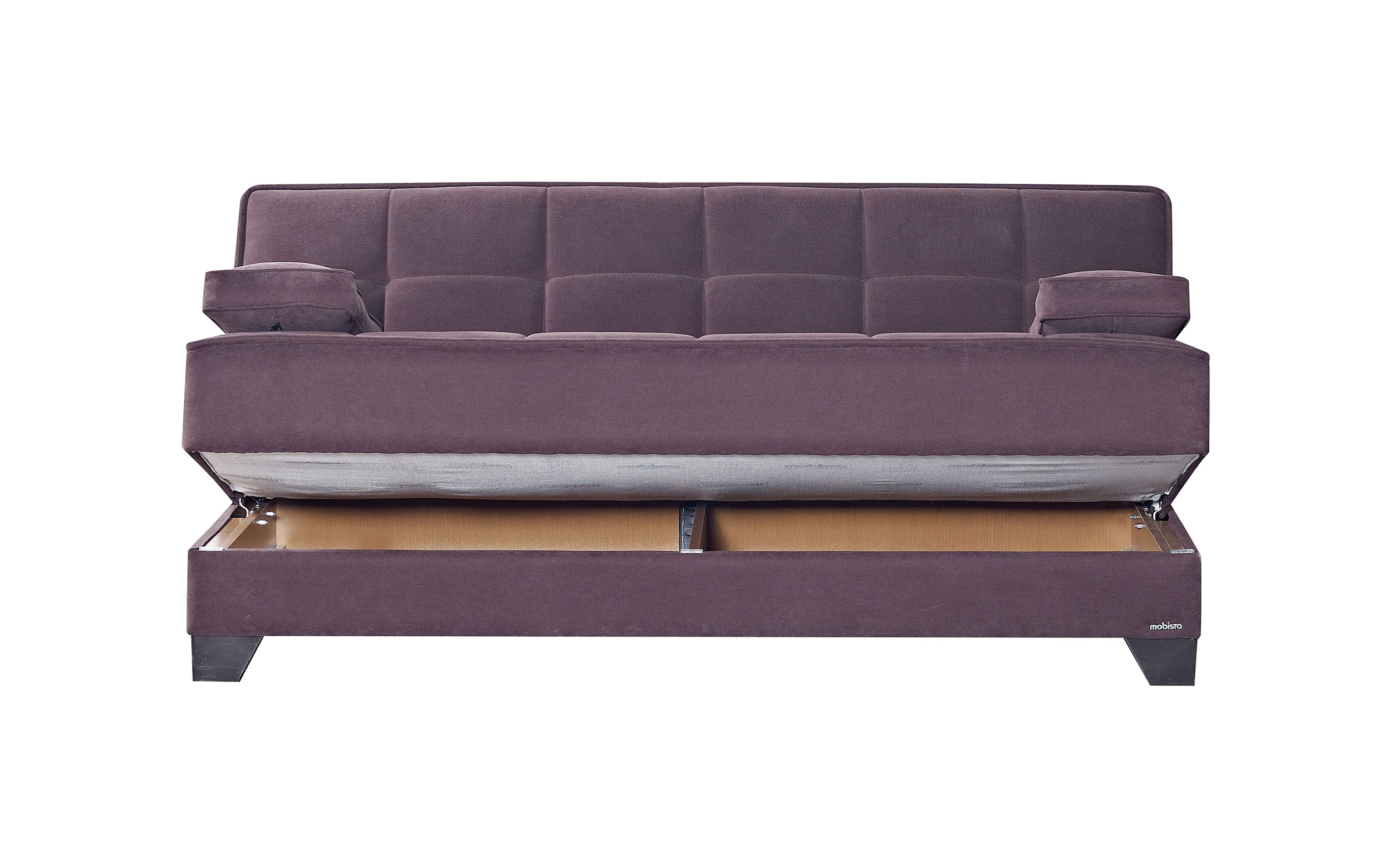 mexico futon sofa bed with mattress chocolate grey accent pillows nexo carisma by mobista