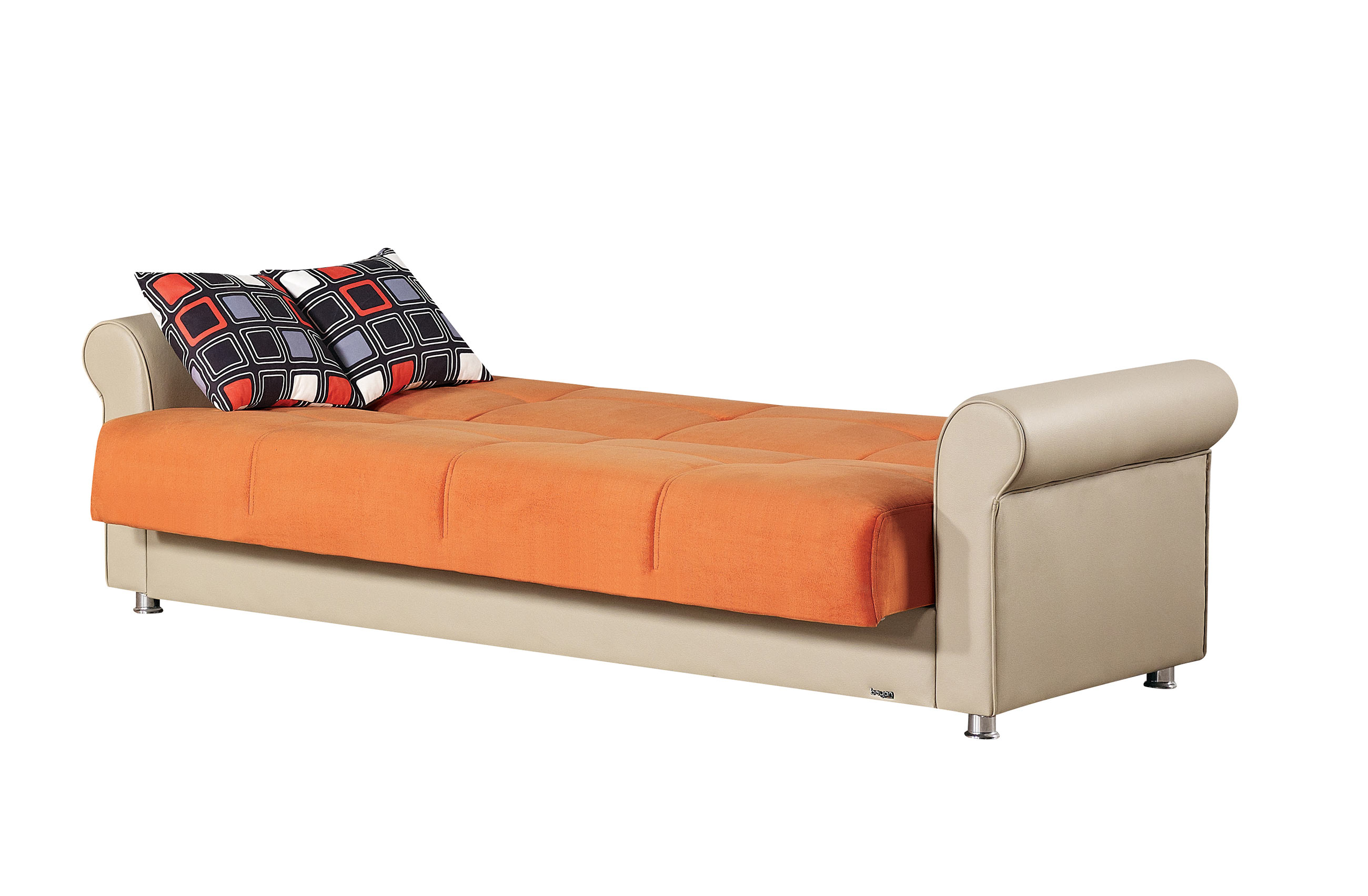 empire furniture sofa leather sleep pacific orange fabric bed by usa