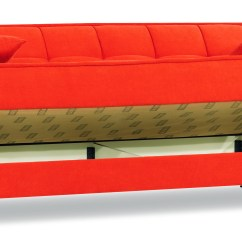 Orange Fabric Sectional Sofa Bed Inoac Review Smart Fit Convertible By Casamode