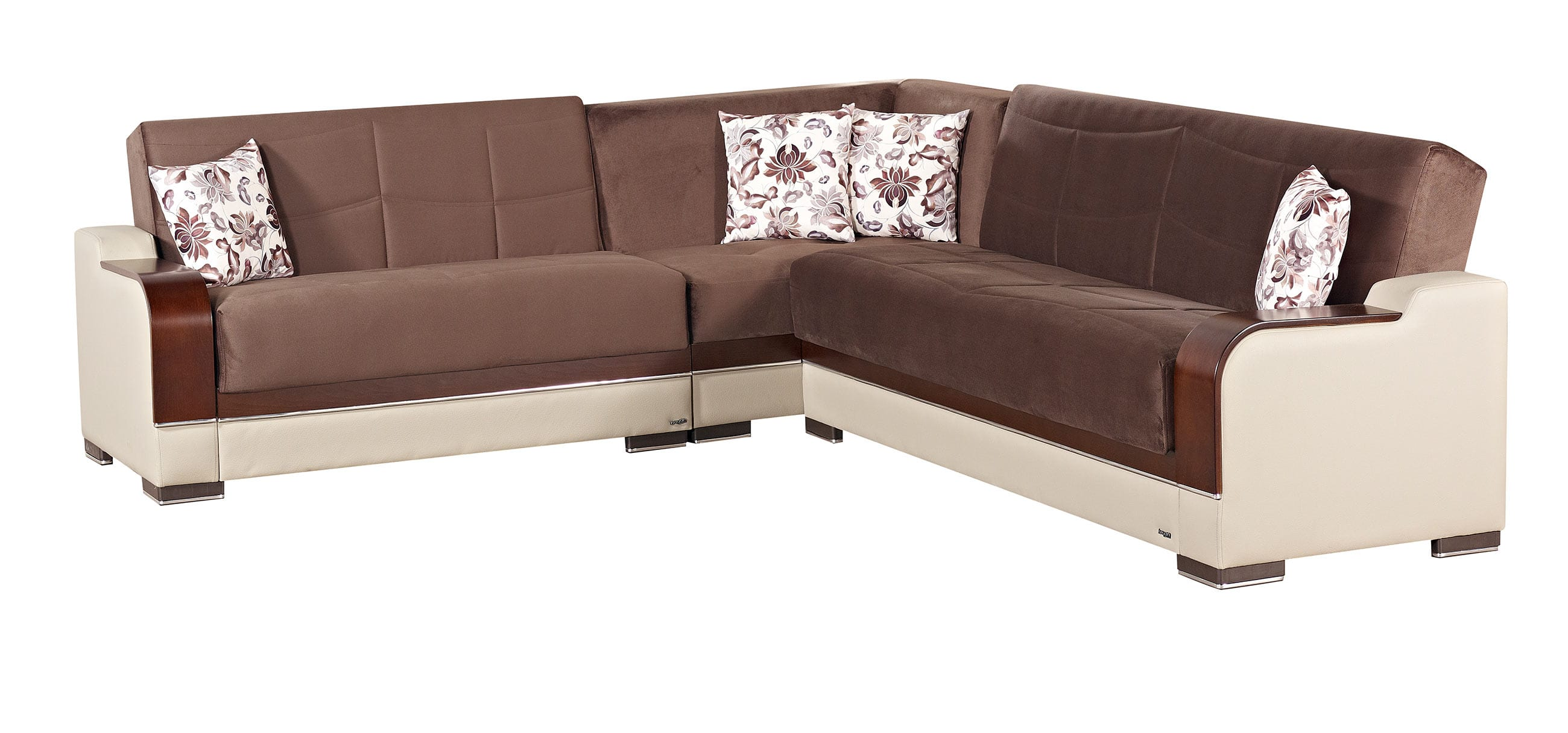empire furniture sofa masoli texas brown fabric sectional by usa