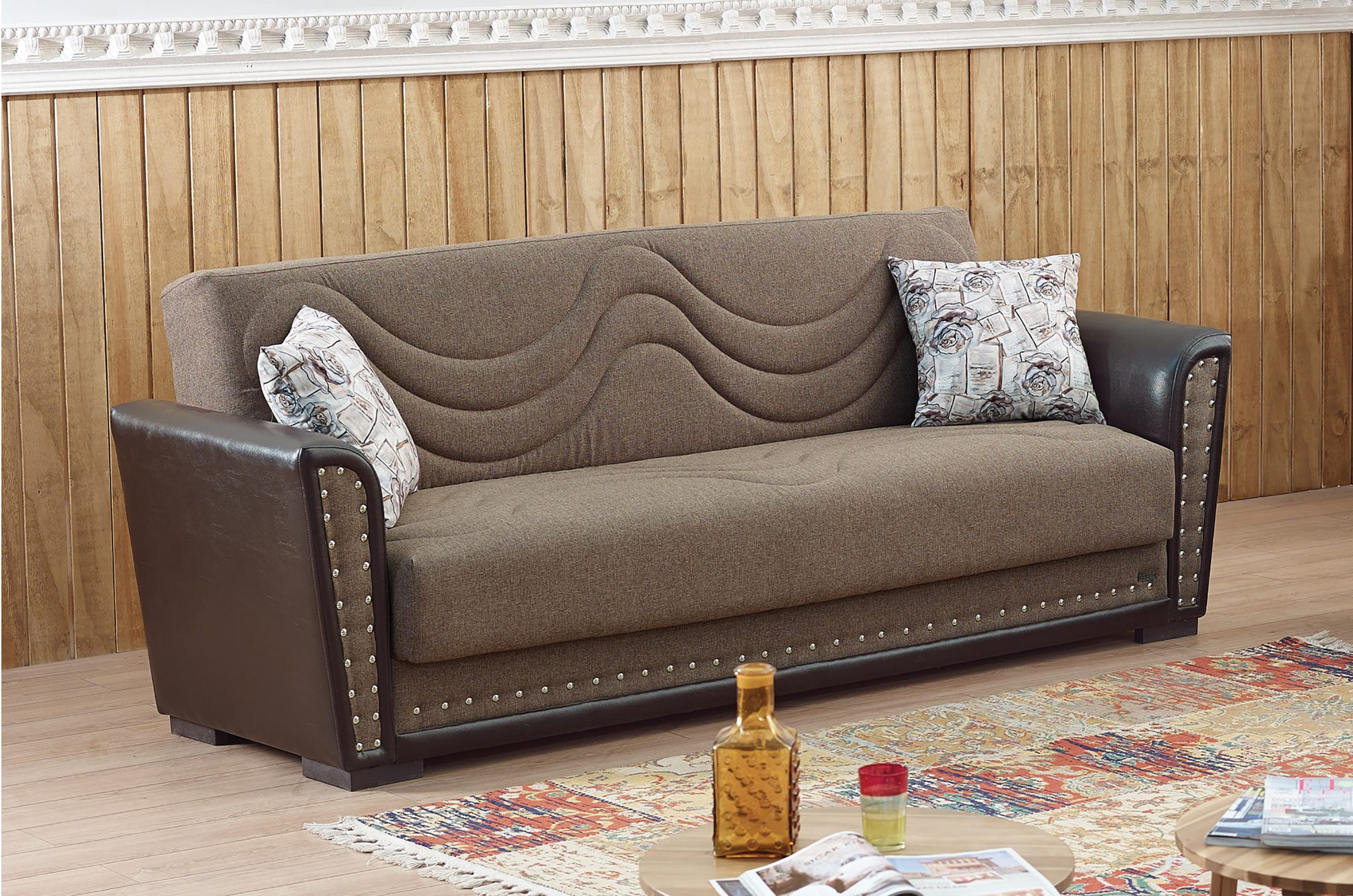 empire furniture sofa leather covers india toronto brown fabric bed by usa