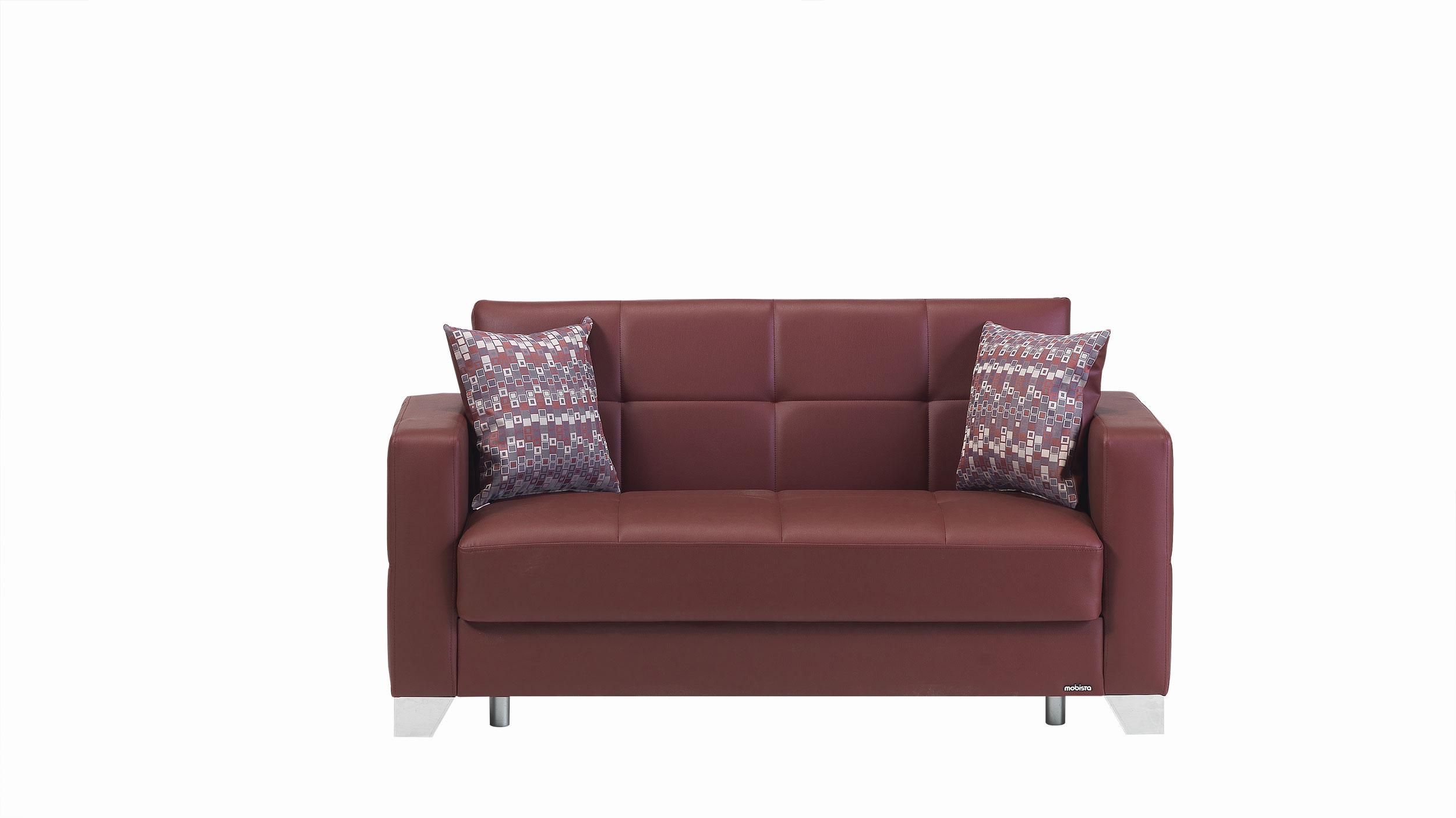 leatherette sofa durability gaming uk viva italia prestige burgundy loveseat bed by