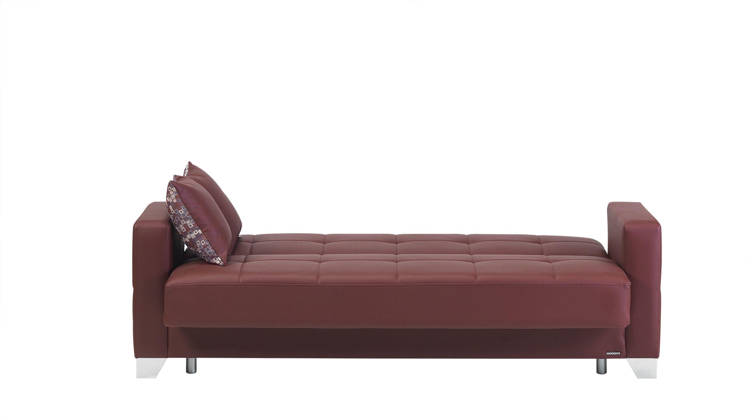 leatherette sofa durability corner rug size viva italia prestige burgundy bed by mobista
