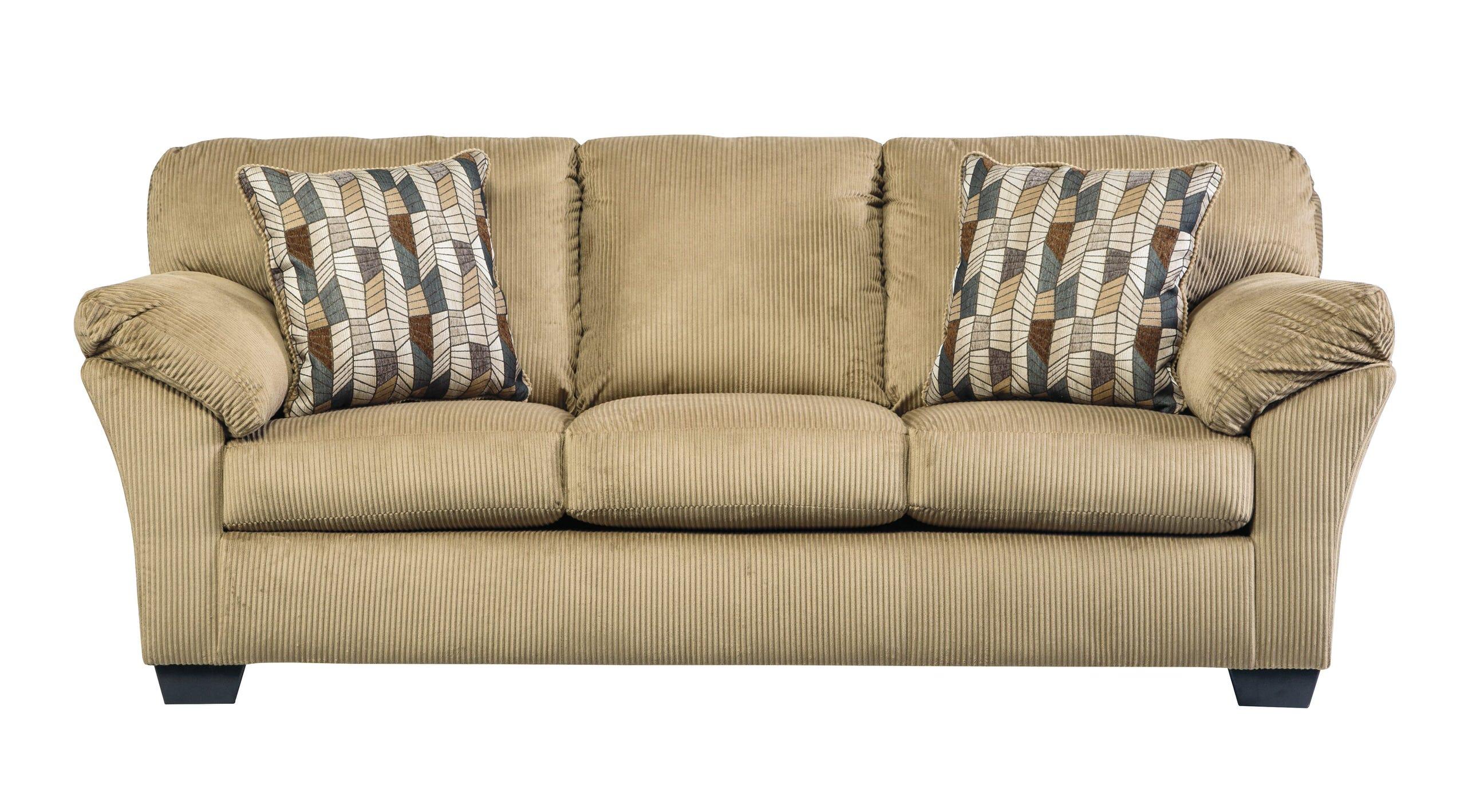 ashley furniture morandi mocha sofa dillards sofas bernhardt aluria contemporary