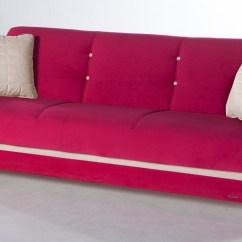 Fuschia Sofa Leather High Back Fabio Plato Convertible Bed By Sunset