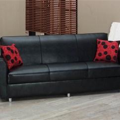 Black Leather Sleeper Sofa Set Courts Bed Singapore Harlem By Empire Furniture Usa