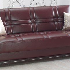 Empire Furniture Sofa Two Seater Loose Covers Manhattan Burgundy Leather Bed By Usa