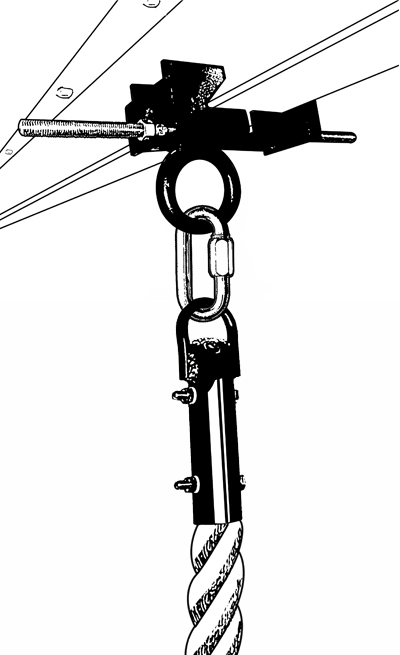 rope attachment hardware option a adjustable ibeam clamp