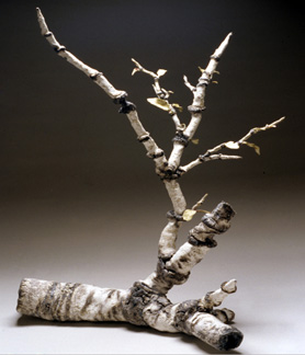 Cut branch - welded clay
