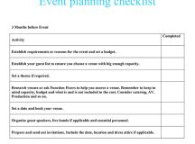 Event planning checklist | Function Fixers