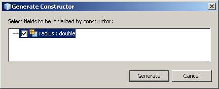 Generate Constructor