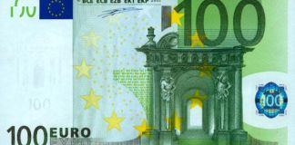 Reproducción de un billete de 100 euros