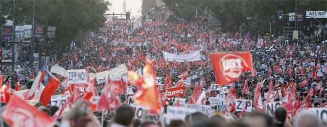Manifestación en Madrid de la huelga general del 29S de 2010