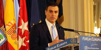 Pedro Sánchez en el Fórum Europa. FOTO: nuevaeconomiaforum.org
