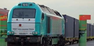 El tren de la Ruta de la Seda Yiwu-Madrid