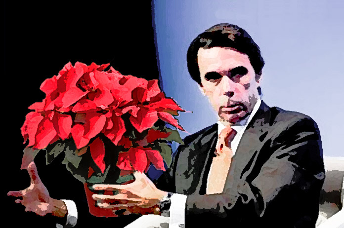 Aznar y la flor de pascua