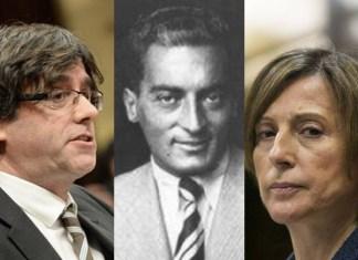 Forcadell, Puigdemont y Miquel Badía