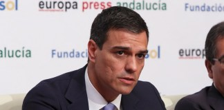 Pedro Sánchez en los desayunos informativos de Europa Press