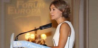 Isabel Garcia Tejerina en el Fórum Europa de Nueva Economía