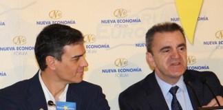 Pedro Sánchez y José Manuel Franco