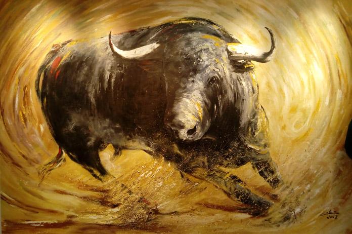 Un toro de la exposición